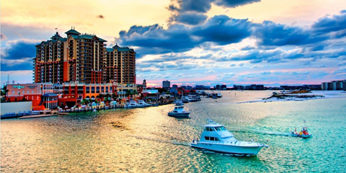 Four night stay at the elegant Emerald Grande in Destin. Package includes aquatic adventures.